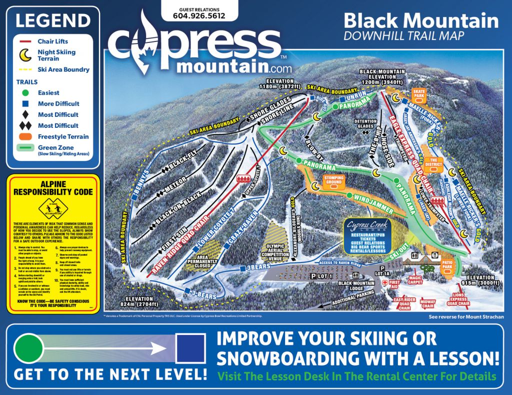 Downhill Trail Map - Black Mountain